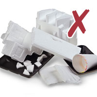 Photo of various polystyrene items with cross