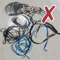 No bundled ties wire plastic string