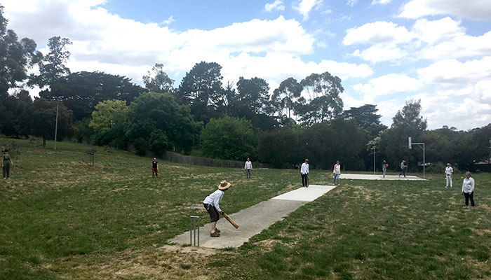 Photo of people playing cricket and basketball at Spring Valley Reserve