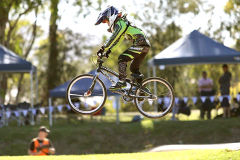 Photo of BMX bike jump at the Stintons Reserve BMX track