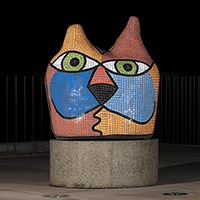 Deborah Halpern Big Cat Public Art Sculpture Thumbnail Image