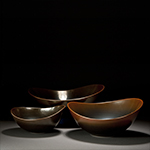 Photo of Ceramic Artist Brian Keyte Phi Triptych
