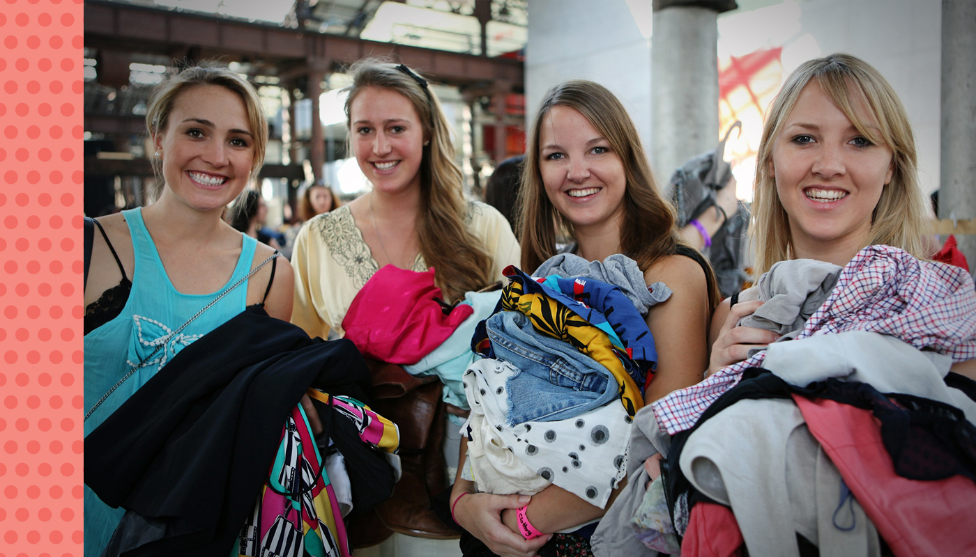 Photo of clothes swap event