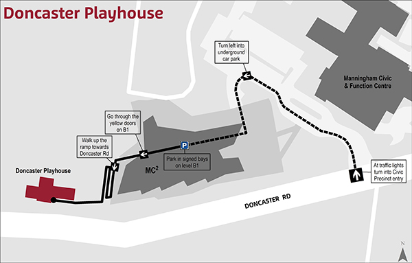 Doncaster Playhouse where to park map