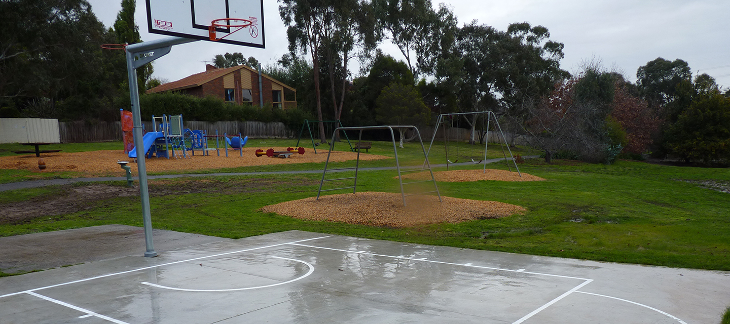 Basketball court at the Grange Reserve