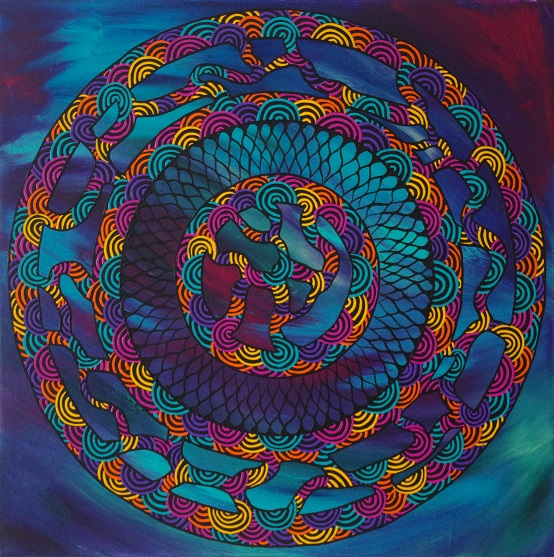 image of artwork titled Connecting Journey Number 1 by artist Troy Firebrace
