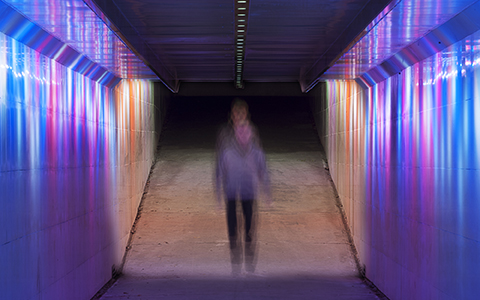 Warren Langley's Immerse in the Doncaster Road underpass