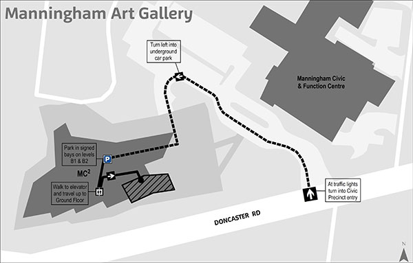 Manningham Art Gallery where to park map