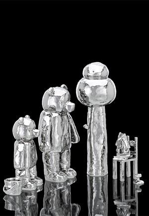 Photo of Bear Family by Ceramic Artist Michael Doolan