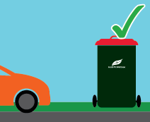 Illustration of bin placed away from car