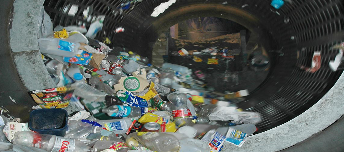 photo of recycling in trummel