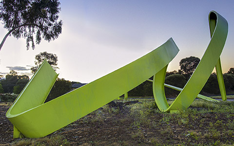 Michael Bellemo and Catriona Macleod's iconic River Peel in the Fitzsimons Lane and Porter Street roundabout