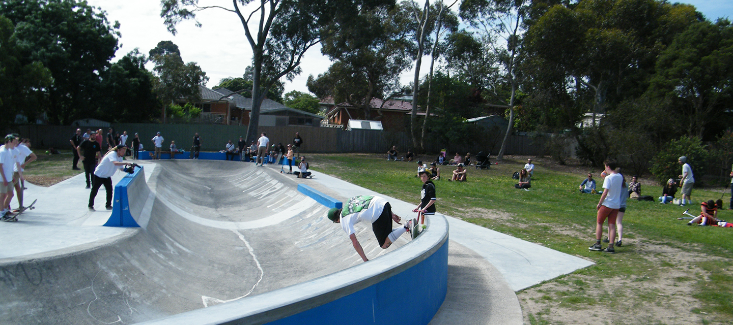 Skating bowl at Swanston Reserve
